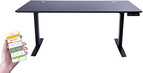 ApexDesk Flex Pro Series 66 Standing Desk Base Top with Bluetooth Function Memory Controller, Black Base Black Top