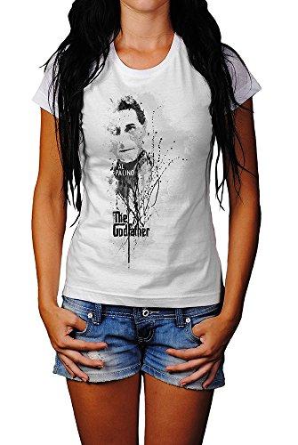 The-Godfather-Al-Pacino T-Shirt Mädchen Frauen, weiß mit Aufdruck