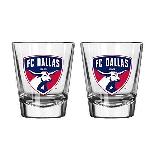 Boelter Brands MLS FC Dallas Satin Etch Shot Glass, 2-Ounce, 2-Pack