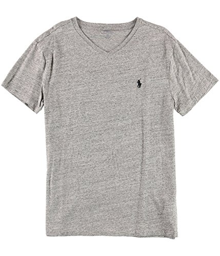 Polo Ralph Lauren Men's Short Sleeve V-Neck Tee (Small, Dark Vintage)