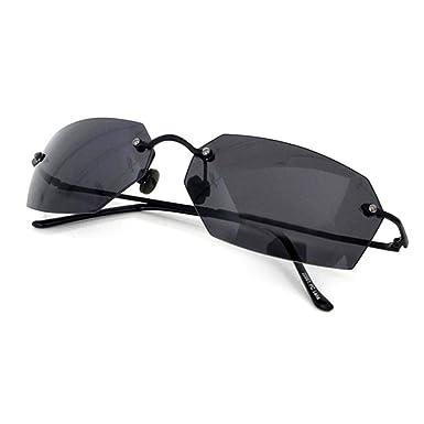 8ef2179a9f Amazon.com  Matrix Square Sunglasses men Ultralight Rimless (Black ...