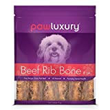 Pawluxury Natural Beef Rib Bones by (8 Pack) Durable and Long-Lasting Dog Chews