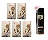 Daeng Gi Meo Ri Medicinal Herb Hair Color 5 Set-Light Brown (No Ammonia & No PPD) +FREE Shampoo