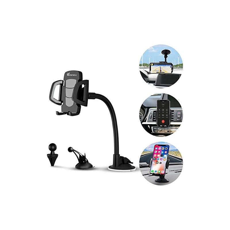 Car Phone Mount, Vansky 3-in-1 Universal