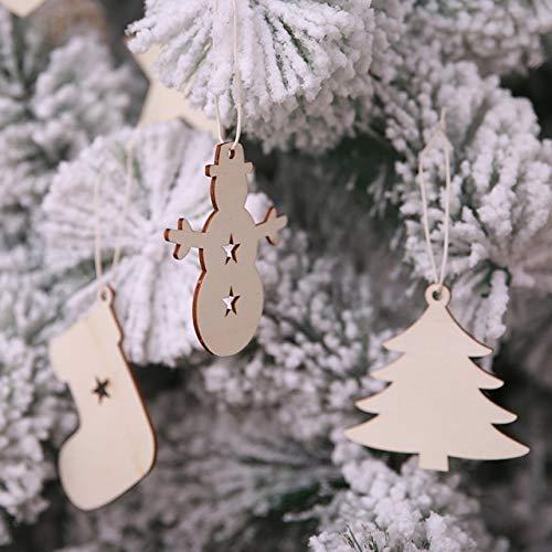 10 UNIDS Christmas Tress Colgantes Colgantes Decoraciones Para El Hogar De Madera Adornos para /Árboles de Navidad Favores de Ni/ños Suministros de Fiesta fghfhfgjdfj