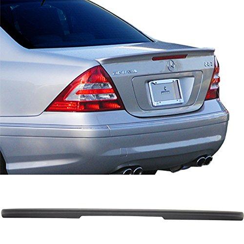 Trunk Spoiler Fits 2001-2007 Mercedes Benz C-Class W203 4Dr Sedan   AMG Style ABS Matte Black Rear Spoiler Deck Lip Wing Bodykits by IKON MOTORSPORTS   2002 2003 2004 2005 2006