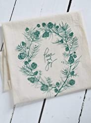Organic Cotton Peace and Joy Tea Towel