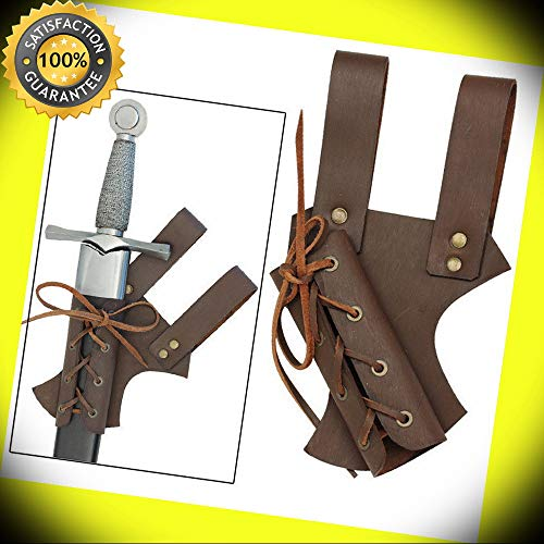 Medieval Renaissance Hawkwood Knights Sable Leather Crusader Sword Frog perfect for cosplay outdoor ()