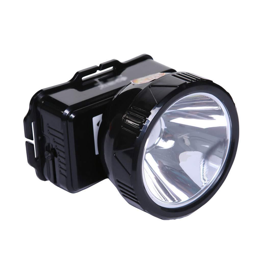 KLSHW Lead-Acid Rechargeable Headlight-1W Glare Super Bright Head-Mounted LED Headlight Outdoor Miner's Lamp Night Fishing Light Flashlight Long-Range Concentrating Portable Headband