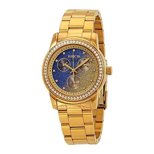 (Invicta Women's 23822 Angel Quartz Chronograph Blue, Yellow Dial Watch)