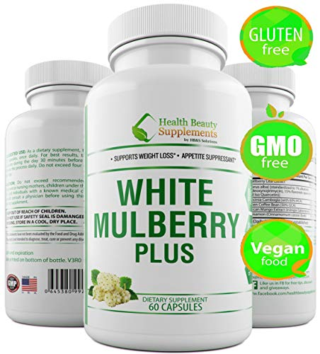White Mulberry Plus. Leaf Extract. Blood Sugar Control Supplement. Fast Acting Weight Loss for Women and Men. with Garcinia Cambogia,Green Coffee Bean,African Mango. Sugar Cravings Control. 1000mg