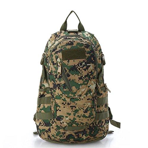 TaoMi- Mochila al aire libre - bolso de hombro de camuflaje hombres y mujeres deportes mochila bolsa de escalada bolsa de viaje ( Color : B , Tamaño : 30L ) C