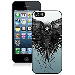 Beautiful Designed Antiskid Cover Case For iPhone 5S Phone Case With Game Of Thrones Raven_Black Phone Case