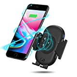 Wireless Car Charger Mount, Kuxiu Qi Wireless Fast Charger Stand Automatic Open & Clamp Car Air Vent Phone Holder for Samsung Galaxy S9 Plus/S9/S8 Plus/ S8 /S7edge/S7/Note 8/Note 5/iPhone X/8 Plus/8