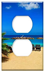 Beach Sand Sea Ocean Summer Sandy Beach Holiday -Outlet Cover Switch Plate