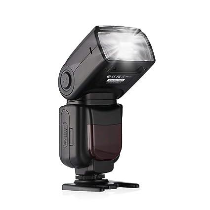 Powerextra DF-801 GN60 HSS 1/8000s E-TTL/E-TTL II Master Slave Speedlite  Flash for Canon EOS Rebel T3i T2i 70D 80D 7D 7D Mark II 5D Mark II III IV  and