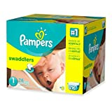 Super-Stretchy Sides, Soft, Size 1 Disposable Diapers With Wetness Indicator, (216-Count)
