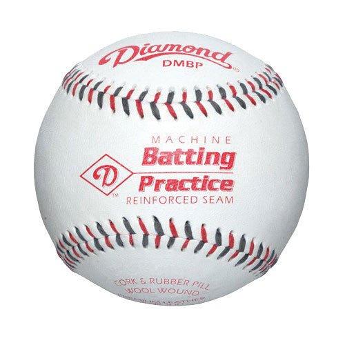 Diamond Leather Pitching Machine Baseball (Dozen) ()
