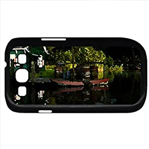 Reflection in the pond - Watercolor style - Case Cover For Samsung Galaxy S3 i9300 (Black)