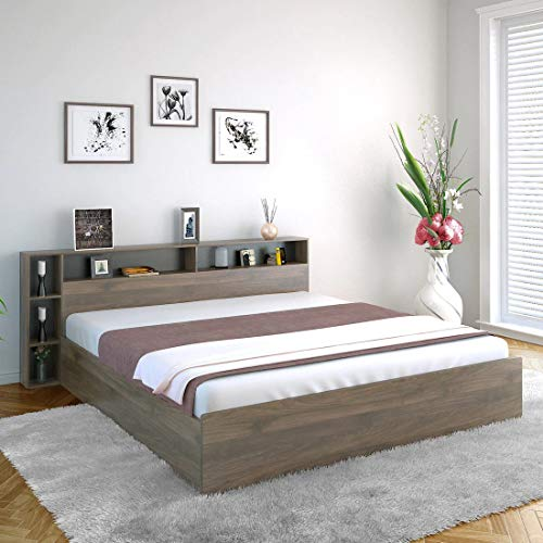 Woodcasa Engineered Wood Toran King Size Bed with Box Storage