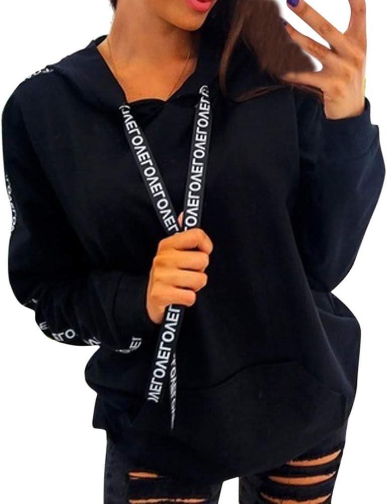 Sudadera con Capucha Sudadera de Empalme, Tamaño Extra Grande para Mujer Sudadera de Manga Larga Sudadera con Capucha Tops Camisa Absolute La Cinta riou: Amazon.es: Ropa y accesorios