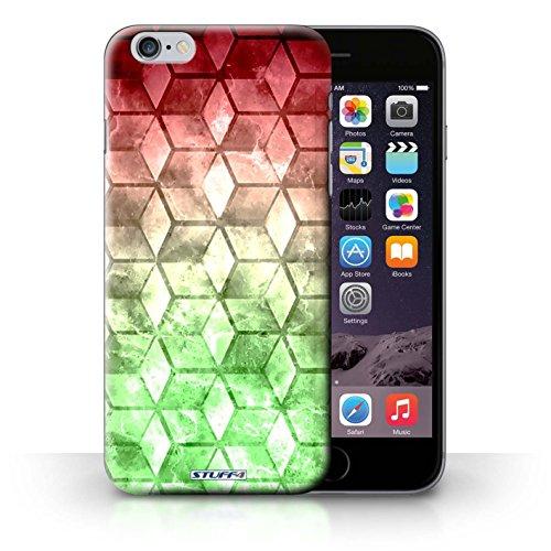 Hülle Case für iPhone 6+/Plus 5.5 / Rot / Grün Entwurf / Bunte Würfel Collection