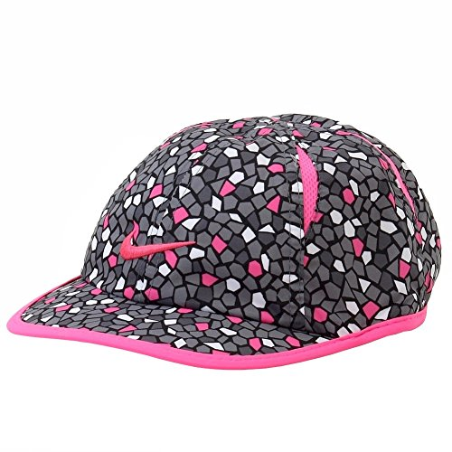 (Nike Feather Light Graphic Hat - Preschool Girls (4/6X, Grey/Pink))