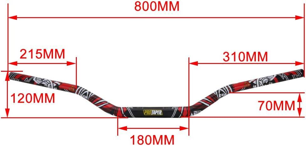 coussinets de guidon pour moto cross Honda CFR250R CFR450R CFR450X CFR250X XR250 poign/ées Ysmoto Guidon imprim/é 28 mm support de barre