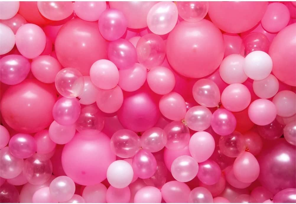 Pale Pink 10x8 FT Vinyl Photography Backdrop,Abstract Bubble Spheres with Color Details Modern and Vibrant Background for Baby Birthday Party Wedding Studio Props Photography