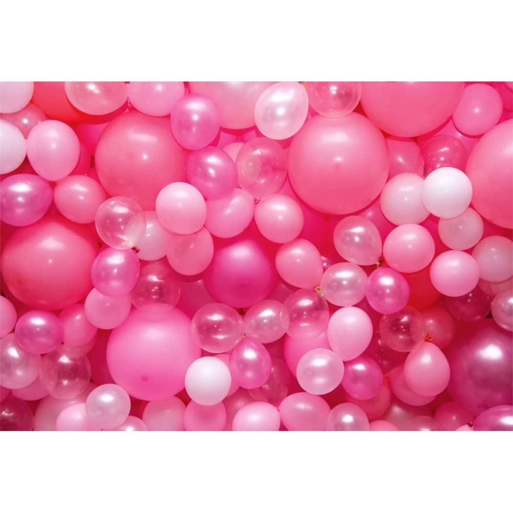 ... Frame Pink Balloons Decors Wall Vinyl Photography Background Child Baby Adult Girl Birthday Party Banner Personal Portrait Shoot Wallpaper Studio Props