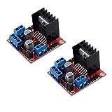 Pack of 2Pcs L298N Dual H Bridge Stepper Motor Driver Controller Board Module for Arduino UNO MEGA R3 Mega2560 Duemilanove Nano Robot