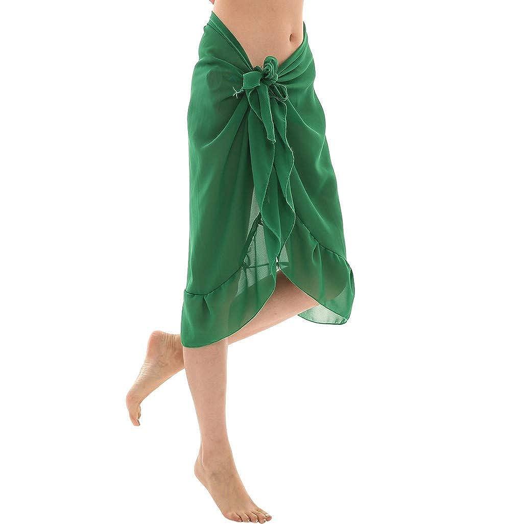 LOPILY Damen Strandkleider Sarong Pareo Strandkleid Bikini Cover up Urlaub Strand Chiffon Bikini Wickelrock Strandtuch Strandabdeckung Decke Bikini Kleid Stola