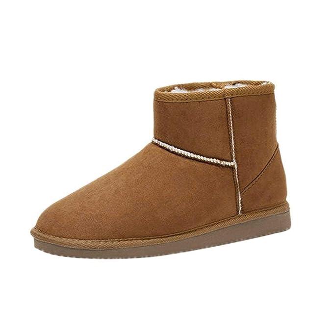 Minetom Mujer Zapatos Clásicos Botines Botas De Invierno Calentar Casual Cómodo Botas: Amazon.es: Ropa y accesorios