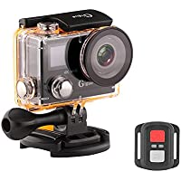 Gigue U1 REAL 4K Ultra HD 12MP Waterproof 2.4G Remote 170 Degree Wide Angle Dual (2 Inch LCD + 0.95 Inch OLED) Screen Super thin Sports & Action Camera With 2 Batteries