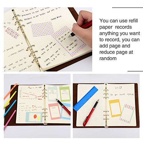 Hestya A5 6-Ring Binder Planner Refill Paper for Journals Notebooks Diaries Inserts, 8.35 by 5.59 Inches (200) by Hestya (Image #7)