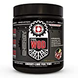 PREWOD Pre Workout - Creatine Free Nitric Oxide (NO) Boosting Preworkout Supplement   Caffeine, Citrulline Malate, Beta Alanine   Focus & Energy Drink Powder (Cherry Lime for Time)