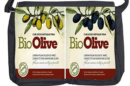 Borsa Tracolla Nostalgico Divertimento Olive Stampato