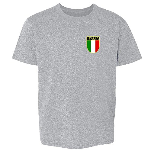 Italy Soccer Retro National Team Halloween Costume Sport Grey 2T Toddler Kids T-Shirt -