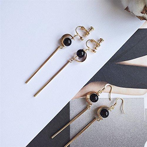 TKHNE Handmade jewelry wear ear line you would be really gentle retro elegant natural slender tube clip - Jewelry Tube Threader Earrings