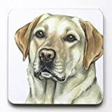 Golden Labrador Coaster- CST151 - Made in UK, from original Watercolor painting by CambridgeStyle