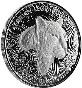 Moneda de plata de 1 onza de Ghana Leopard Scottsdale Mint 2019, 1 oz en cápsula para monedas: Amazon.es: Bricolaje y herramientas
