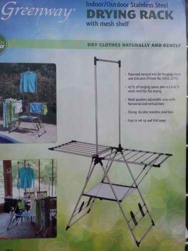 Indoor / Outdoor Clothes Drying Rack with Mesh Shelf