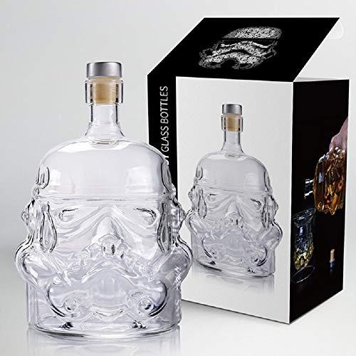 Decanter 1 Pcs Storm Trooper Star Wars White Soldier Glass Jug Liquor Bottle High Boron Glass Bottle Wine B ()