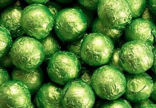 Kiwi Green Foiled Milk Chocolate Balls 5LB Bag by The Nutty Fruit House