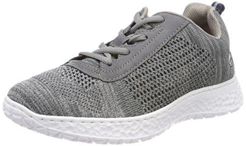 Gris grau Sneakers jeans N4105 Basses Rieker Femme 0xvRwA
