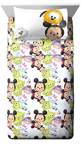 Disney Stack Em Up Tsum Twin Sheet Set, White