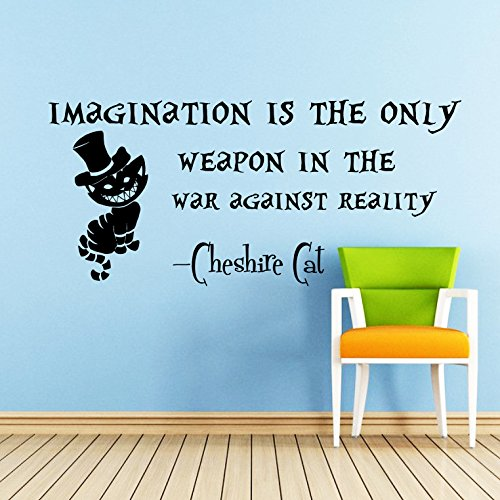 Wall Decals Quotes Alice In Wonderland Vinyl Sticker Sayings Cheshire Cat  Quote Decal   Imagination Is Part 87