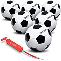 GoSports Classic Soccer Balls with Premium Pump -...