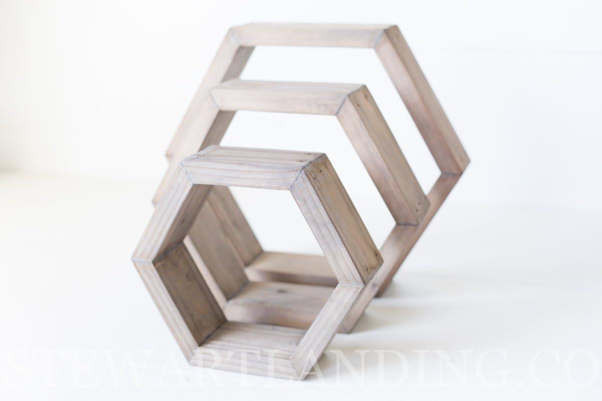 Estantería hexagonal conjunto de 3 | geométrico hexagonal ...