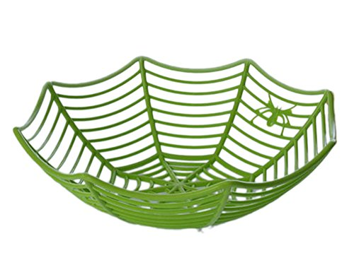 New Plastic Fruits Basket Spiderweb Bowl Party and Basket Artificial Fruit Decor Green